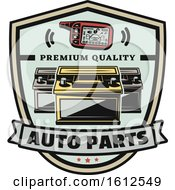Clipart Of A Car Auto Parts Design Royalty Free Vector Illustration