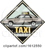 Clipart Of A Diamond Taxi Automotive Design Royalty Free Vector Illustration