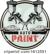 Clipart Of A Shield Car Paint Automotive Design Royalty Free Vector Illustration