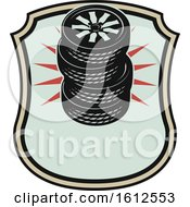 Clipart Of A Shield Tire Automotive Design Royalty Free Vector Illustration