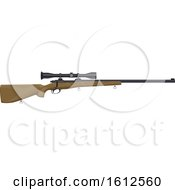 Clipart Of A Hunting Rifle With A Scope Royalty Free Vector Illustration