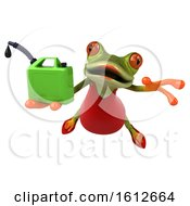 3d Green Female Frog Gas Can On A White Background