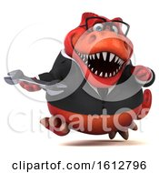Clipart Of A 3d Red Business T Rex Dinosaur Holding A Wrench On A White Background Royalty Free Illustration