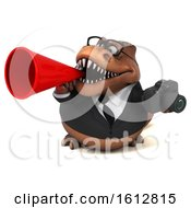 Clipart Of A 3d Brown Business T Rex Dinosaur Holding A Camera On A White Background Royalty Free Illustration