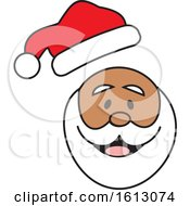 Clipart Of A Happy Black Christmas Santa Claus With His Hat Popping Off Royalty Free Vector Illustration by Johnny Sajem
