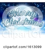 Merry Christmas Moon Cartoon Graphic