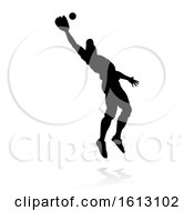 Poster, Art Print Of Baseball Player Silhouette On A White Background