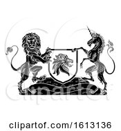 Crest Heraldic Lion Unicorn Shield Coat Of Arms by AtStockIllustration