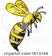 Poster, Art Print Of Yellow Jacket Wasp Or Hornet