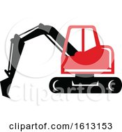 Poster, Art Print Of Mechanical Digger Or Excavator