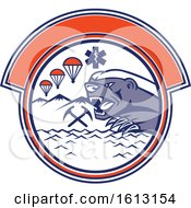 Land Sea And Air Rescue Design With A Honey Badger Mascot