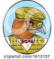 Poster, Art Print Of English Hawk Outdoors Man