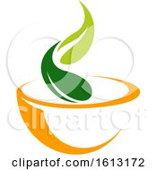 Clipart Of A Vegetarian Vegan Or Organic Food Design Royalty Free Vector Illustration