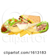 Clipart Of Mexican Foods Royalty Free Vector Illustration