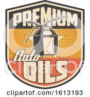 Retro Styled Automotive Oil Design