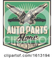 Retro Styled Automotive Spark Plugs Design