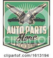 Poster, Art Print Of Retro Styled Automotive Spark Plugs Design