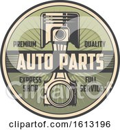 Clipart Of A Retro Styled Automotive Piston Design Royalty Free Vector Illustration