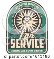 Clipart Of A Retro Styled Automotive Design Royalty Free Vector Illustration