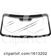 Clipart Of A Windshield Automotive Design Royalty Free Vector Illustration