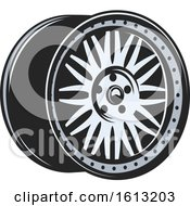 Clipart Of A Rim Automotive Design Royalty Free Vector Illustration