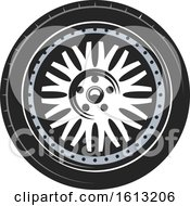 Clipart Of A Tire Automotive Design Royalty Free Vector Illustration by Vector Tradition SM