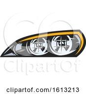 Poster, Art Print Of Headlight Automotive Design
