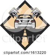 Clipart Of A Car Automotive Design Royalty Free Vector Illustration