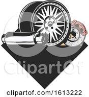 Poster, Art Print Of Car Parts Automotive Design