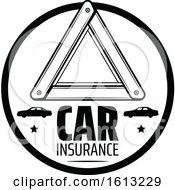 Black And White Automotive Car Insurance Design
