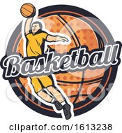 Clipart Of A Basketball Design Royalty Free Vector Illustration