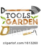 Clipart Of Garden Tools Royalty Free Vector Illustration