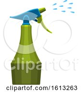 Clipart Of A Gardening Spray Bottle Royalty Free Vector Illustration