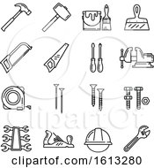 Poster, Art Print Of Black And White Tool Icons