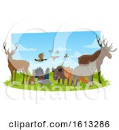 Clipart Of Forest Animals Royalty Free Vector Illustration by Vector Tradition SM