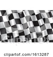 Poster, Art Print Of Waving Racing Flag Background