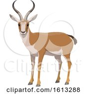 Clipart Of A Gazelle Royalty Free Vector Illustration