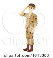 Poster, Art Print Of Teen Boy Young Soldier Illustration