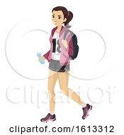 Teen Girl Shorty Casual Illustration