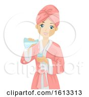 Teen Girl Spa Science Illustration