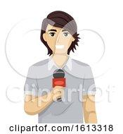 Teen Guy Reporter Illustration