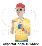 Teen Guy Sundae Illustration