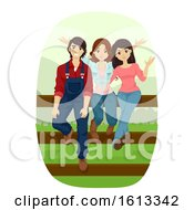 Teens Urban Farm Illustration