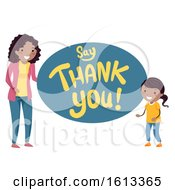 Stickman Kids Mom Say Thank You Illustration