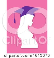 Poster, Art Print Of Girl Profile Graduate Pregnant High School