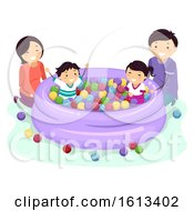 Stickman Family Kids Play Ball Pit Pool