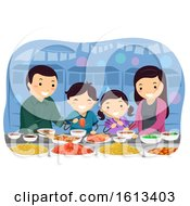 Stickman Family Korean Market Stall Illustration by BNP Design Studio