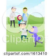 Stickman Family Muslim Bonding Play Outdoor