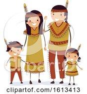 Stickman Family Native American Indians by BNP Design Studio