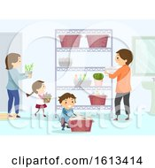 Stickman Family Organize Bathroom Illustration by BNP Design Studio